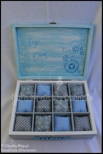 """Caixa para 12 relógios """"Light Blue"""""""