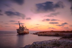 Shipwreck - Edro III (Nomad Soldier) Tags: rocks vessel rusty boat water exposure long cyprus wreck ship sea