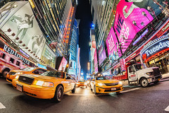 New York City Time Square (stefanschaefer90) Tags: new york city newyorkcity newyork ny nye america usa us time square street lights ads werbung taxi cap yellow