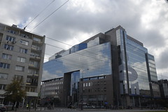 Imposing buildings in Warsaw (SpirosK photography) Tags: poland warsaw warszawa   building architecture metal glass modernarchitecture skyscraper