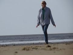 3590 Woman on Romney Sands (Andy panomaniacanonymous) Tags: 20160820 bbb beach kent people ppp romneysands sand sss strolling walker walking woman www