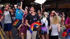 036  LGBT PRIDE, CHARLOTTE, 8/21/16 (Lugrada) Tags: lesbian gay bisexual transgender color hair pride youth young proud choice aware showing free marching