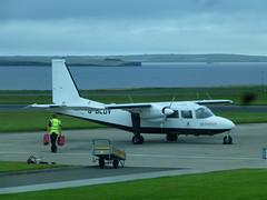 Logan Air G-BLDV plane for the world shortest commercial flight Kirkwall Airport (Marshall Smart) Tags: logan air gbldv plane for world shortest commercial flight kirwall airport