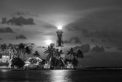 Hillsboro Lighthouse (Sal Sciarrino) Tags: seascapes nightscape moonrise florida floridaseascapes lighthouses nikon nikonphotography fineartphotography ngc