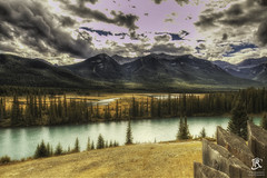 The Valley, (Tristan Roebersen) Tags: tristan roebersen troebersen 70d canon epic cool nice tristaan view awesome lnadscape reflection water national parc banff canada mountains sky hdr clouds skie cloudy green grass valley alberta field
