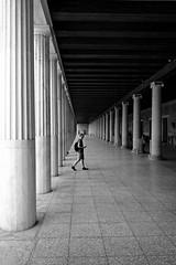 Arcade (Tilemachos Papadopoulos) Tags: qoq arcade portico antiquity athens greece mono monochrome pattern architecture structure diagonal fuji fujifilm fujinon xt10 contrast vanishingpoint bw blackandwhite mirrorless
