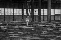 Abandoned Aerodrome Hanger Beautified (Photo Kubitza) Tags: abandoned alberta architecturalphotography beam canada clothed dirty doors female femalemodel geotag geotagged girder indoor industrial interiorarchitecture kirkcaldy kirkcaldyaerodrome model nude old people photographicart portraitphotography posing roof smiling standing steel used windows wood
