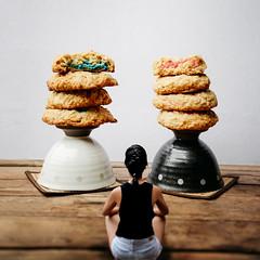 63/365 Food (itskatrinayu) Tags: food cookies miniature conceptual 365 project self portrait tea cups blue pink