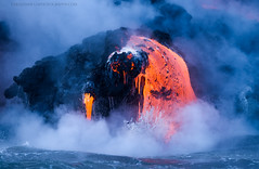 Lava monster (gmacfly) Tags: lava hawaii nature hot melting volcano steam ocean pacific beast boat tour big island seascape amazing no person