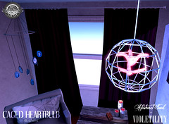 [-AS-] + .:V:. Caged Heartbulb (Abstract Soul by Methias Kira) Tags: fantasy spell magic energy light art surreal kaleidoscope abstractsoul as abstract secondlife methias methiaskira lostandfound lostfound gacha violetility event