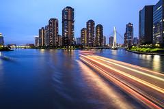 Sumida River, View from Eitai Dori, Tokyo (angolming@gmail.com) Tags: japan tokyo angolming eitai bridge river sumida longexposure cityscape