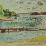 "<b>LFAC # 2016.03.01</b><br/> Arne Kavli, Untitled (Dock with Rowboat)<a href=""http://farm9.static.flickr.com/8100/29859373695_ffe6de8d69_o.jpg"" title=""High res"">∝</a>"