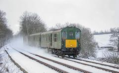 1001 Hamstreet 23022005 (Waddo's World of Railways) Tags: 1001 demu hamstreet ashford kent snow ice winter cold railway train hastingsunit february 2005 thumper outdoor
