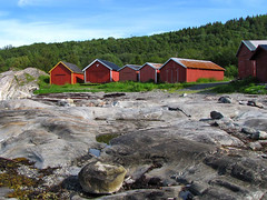 Narvik - Barns (Olof S) Tags: trees red wallpaper house building nature norway rock skyline barn rural forest canon landscape photography landscapes countryside norge photo wooden interesting scenery europe view country picture norwegen powershot norwegian shore environment nordic scandinavia paysage landschaft gebude hus paesaggio nothern landskap manzara redpaint byggnad sx10 redpainted