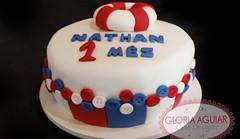 Bolo Marinheiro Baby (Gloria Aguiar Cake Designer) Tags: rj bebê bolo menino marinheiro docedeleite pastaamericana boloazul gloriaaguiar