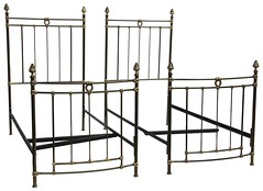 48. Pair of French Style Metal Twin Beds