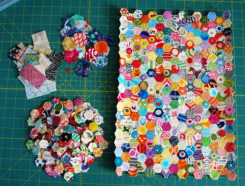 "1/2"" Hexagon Mini Quilt"
