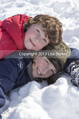 Cuddling Brothers (Lisa-S) Tags: winter portrait snow ontario canada lisas owen brampton invited pending 3101 trystan toboggoning gettyimagescanada flickropen copyright2013lisastokes getty2013 getty20130523