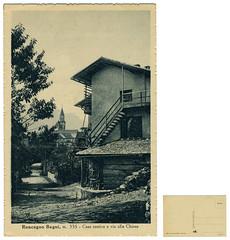Roncegno Terme, casa rustica e via alla chiesa (Ecomuseo Valsugana | Croxarie) Tags: cartolina roncegno sittoni montibeller roncegnoterme croxarie giuseppesittoni
