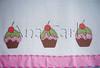 pano de prato cupcakes (Ana Carla_Fazendo Arte) Tags: flores frutas galinha cupcake patchwork cozinha