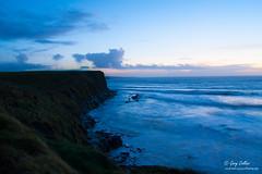 Watermark _DSC5540 (garycollins2) Tags: ocean ireland sunset red sky sun wet water night coast nikon clare day wave valentine cliffs atlantic valentines 1855mm lahinch d5000