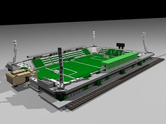 LEGO Albert Florian Stadium (LaszGabi) Tags: brick green football goal team lego champion plan virtual match stadion magyar povray hungarian ftc foci kocka ferencváros népliget üllői fradi meccs albertflórián