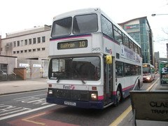 First Scotland East Volvo Olympian 34075 Glasgow 12/02/13 (David_92) Tags: scotland volvo edinburgh glasgow first east bluebird northern midland counties palatine efl olympian i 34075 p575 p575efl