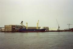 Capelle aan den IJssel, IJsselwerf (Stewie1980) Tags: haven holland netherlands analog harbor photo ship harbour crane den nederland scan wharf 1991 maas ijssel aan nieuwe kraan schip capelle ijsselwerf