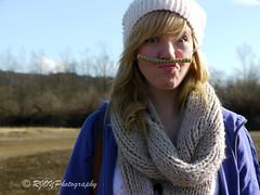 Moustache (RJOYPhotography) Tags: girls portrait girl scarf hair pretty moustache panasonic blonde belle bone scarves mustache fille fishbone filles prettygirl prettygirls bellefille bellefilles