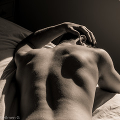 B&W-6 (Geilmen) Tags: boy red men art sepia nude body blond mle manscape