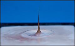 Druppel I (Bart Weerdenburg) Tags: drops drop melk druppel sluitertijd chocolademelk shortshutter