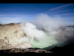Sulphurous (NomadImagesPhotography) Tags: terrain mountain lake mountains water indonesia landscape volcano java workers turquoise sulphur craterlake jawa poisonous fumes mountainous landscapephotography eastjava noxious ijen kawahijen canoneos50d canon1022mmlens jawatimor gunungijen sulphurcloud