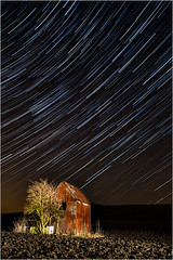 Star Trails Over Salisbury Plain (Chris Beard - Images) Tags: uk england dark stars landscape nighttime wiltshire startrails salisburypalin