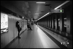 WAITING (Hajime Photo) Tags: white japan underground subway tokyo metro grain culture added blanck