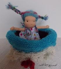 Cherry - A Lit'l Bit (Artist + With Love, Hannah Doll Patterns & Crafts) Tags: handmadedoll waldorfdoll clothdoll steinerdoll waldorftoys naturaldoll