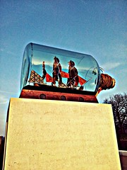 Nelson's Ship in a Bottle (AMIAFAD) Tags: uk sculpture london art glass museum bottle ship african greenwich trafalgar nelson battle lord victory national maritime installation textiles admiral horatio hms shonibare yinka colonialism flickrandroidapp:filter=none