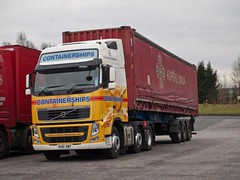 KU61 DWY  Volvo FH  Containerships  Birch Services (wheelsnwings2007/Mike) Tags: volvo birch fh services containerships dwy ku61