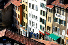 escaliers du march (overthemoon) Tags: street houses windows colour schweiz switzerland suisse faades cit lausanne shutters svizzera boosted vaud romandie escaliersdumarch bestofr visitliz