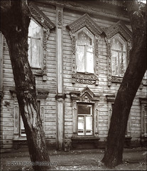 19780604006sc (Boris (architectural photography)) Tags: wood architecture carved russia carving architect vernacular novgorod black white nizhny union throwbackthursday soviet