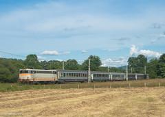 Au milieu des foins, la BB 9331 monte le 872711 Toulouse - Tarbes (Sylvain COSTES) Tags: trains 31 ville numeros locomotives electriques bb9300 matérielroulant 65hautespyrénées stlaurentdeneste
