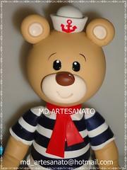 Urso Marinheiro (Márcia Reis MD Artesanato) Tags: topo de bolo urso marinheiro topodebolo