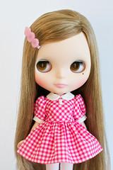 Pink Gingham School Uniform Dress