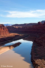 Colorado River (isaac.borrego) Tags: reflection water river utah canyon coloradoriver canyonlands moab canonrebelxsi schaferroad