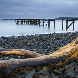 Wooden Pier and Driftwood