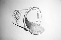 Serie de dibujos Dedales #1. Beth Moysés. Año 2013. Med 29 x 42 cm
