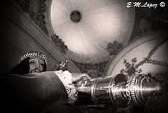 Cúpulas de Semana Santa (serie) (E.M.López) Tags: primavera blancoynegro blackwhite andalucía monumento iglesia altar escultura fe cristo marzo virgen templo imagen techo semanasanta jaén dios virado talla penitente procesión penitencia religión fervor bóveda devoción 2013 procesional alcalálareal penitencial semanasanta2013