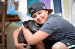 #Matheus & Dog (Carlos Fachini ™) Tags: boy brazil dog animal animals brasil vintage 50mm nikon sãopaulo sp cachorro animales animais menino matheus d5100