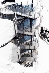 SortidazZ 50mm - Escaleras de emergencia (Navard) Tags: barcelona stairs bcn catalonia catalunya cataluña escaleras montjuic nikon50mm nikond700 cclasarenas sortidazz salvadorcabréphotography navardphotography