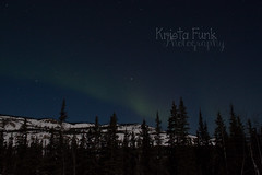 Streaky Northern Lights (Krista Funk's Photos) Tags: sky night stars northernlights auroraborealis northklondikehighway