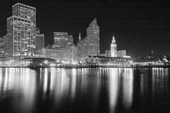 Back Side Of Ferry Building Night (cstout21) Tags: sf sanfrancisco california ca travel chris vacation blackandwhite usa reflection water night lights us unitedstates landmark historic pacificocean embarcadero bayarea ferrybuilding westcoast lightpost hdr highdynamicrange transamericapyramid stout sanfranciscoskyline ngoc canon60d stoutandstout northamera